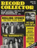 Brian Jones, Keith Richards, Mick Jagger on the cover of Record Collector (United Kingdom) - June 1991