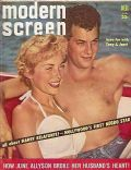 Janet Leigh on the cover of Modern Screen (United States) - June 1957