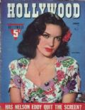Linda Darnell on the cover of Hollywood (United States) - January 1943