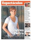 Andrea Pietra on the cover of Clarin (Argentina) - April 2013