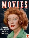 Greer Garson on the cover of Movies (United States) - April 1945