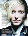 Tilda Swinton on the cover of Io Donna (Italy) - July 2010