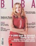 Estella Warren on the cover of Biba (France) - March 1999