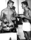 Roddy McDowall and Tab Hunter