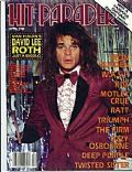 David Lee Roth on the cover of Hit Parader (United States) - April 1985