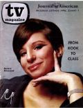 Barbra Streisand on the cover of TV Magazine (United States) - April 1965