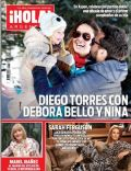 Debora Bello, Diego Torres on the cover of Hola (Argentina) - March 2014
