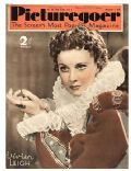 Vivien Leigh on the cover of Picturegoer (United Kingdom) - December 1936