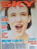 Juliette Lewis on the cover of Sky Magazine (United Kingdom) - December 1992