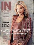 Cate Blanchett on the cover of In New York (United States) - August 2014