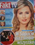 Agnieszka Popielewicz on the cover of Fakt TV (Poland) - June 2011
