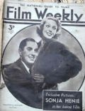 Tyrone Power on the cover of Film Weekly (United Kingdom) - December 1937