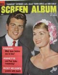 Fabian on the cover of Screen Album (United States) - February 1960