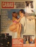 Daniel Scioli, Karina Rabolini on the cover of Caras (Argentina) - April 1993