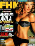 Mariana Ávila on the cover of Fhm (Mexico) - April 2005