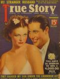 Don Ameche, Simone Simon on the cover of True Story (United States) - December 1936