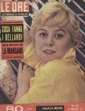 Giulietta Masina on the cover of Le Ore (Italy) - March 1958