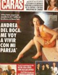 Andrea Del Boca on the cover of Caras (Argentina) - September 1996