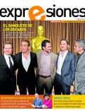 Brad Pitt, Demian Bichir, Gary Oldman, George Clooney, Jean Dujardin on the cover of Expresiones (Ecuador) - February 2012
