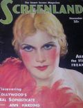 Ann Harding on the cover of Screenland (United States) - November 1931