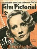 Marlene Dietrich on the cover of Film Pictorial (United Kingdom) - October 1935
