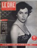 Gina Lollobrigida on the cover of Le Ore (Italy) - December 1953