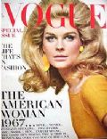 Candice Bergen on the cover of Vogue (United States) - May 1967