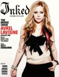 Avril Lavigne on the cover of Inked (United States) - June 2010