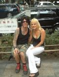 Tracii Guns and Kristen (fiancee)