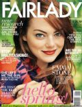 Emma Stone on the cover of Fairlady (South Africa) - September 2013