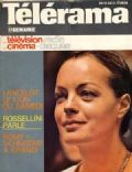 Romy Schneider on the cover of Telerama (France) - February 1975
