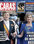 King Willem-Alexander, Princess Máxima of the Netherlands on the cover of Caras (Portugal) - May 2013