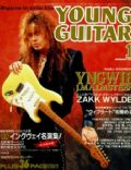 Yngwie Malmsteen on the cover of Young Guitar (Japan) - January 1992