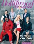 Adam Levine, Blake Shelton, Cee-Lo, Christina Aguilera on the cover of The Hollywood Reporter (United States) - June 2011