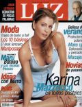 Karina Mazzocco on the cover of Luz (Argentina) - November 2004