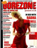 Radha Mitchell on the cover of Gorezone (United Kingdom) - January 2010