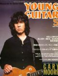 Gary Moore on the cover of Young Guitar (Japan) - May 1992