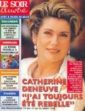 Catherine Deneuve on the cover of Le Soir Illustre (Belgium) - August 1996