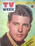 Ricky Nelson on the cover of TV Week (Australia) - May 1963