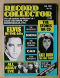 Elvis Presley on the cover of Record Collector (United Kingdom) - January 1989