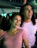 Amy Jo Johnson and Jason David Frank