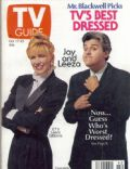Jay Leno, Leeza Gibbons on the cover of TV Guide (United States) - October 1992