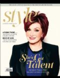 Sharon Osbourne on the cover of Style (United States) - January 2013