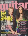 Phil Collen, Vivian Campbell on the cover of Guitar School (United States) - November 1992