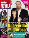 Cielo Rojo, Gloria Stalina, Hernán Mendoza on the cover of Tele Novela (Spain) - April 2012