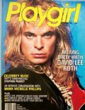 David Lee Roth on the cover of Playgirl (United States) - August 1986