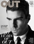Zachary Quinto on the cover of Out (United States) - October 2012