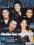 Bruno Gagliasso, Dado Dolabella, Dinho Ouro Preto, Reynaldo Gianecchini, Thaís Fersoza on the cover of Capricho (Brazil) - January 2002