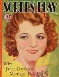 Janet Gaynor on the cover of Screen Play (United States) - April 1933