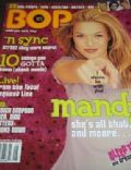 Mandy Moore on the cover of Bop (United States) - May 2001